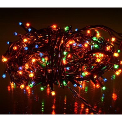 013546 LED coronas de tira de efecto 240 multicolor (cable verde)