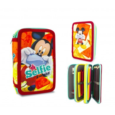 MK16111 Set for school selfie Mickey Mouse backpack and case 3 story