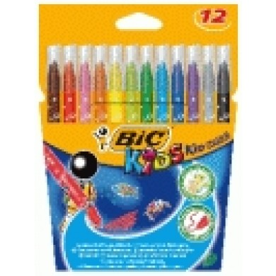 Estuche 12 rotul ultra lavables bic kids pta media -