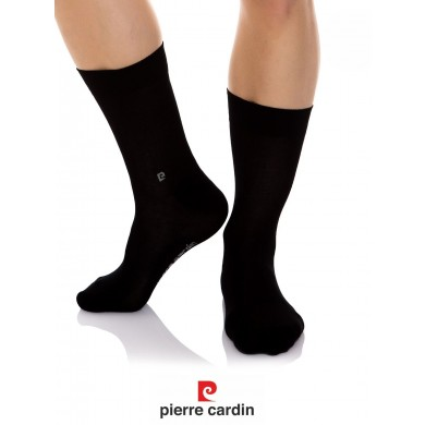 101 PC Pack 3 pairs of black socks made of cotton PIERRE CARDIN | 43-46